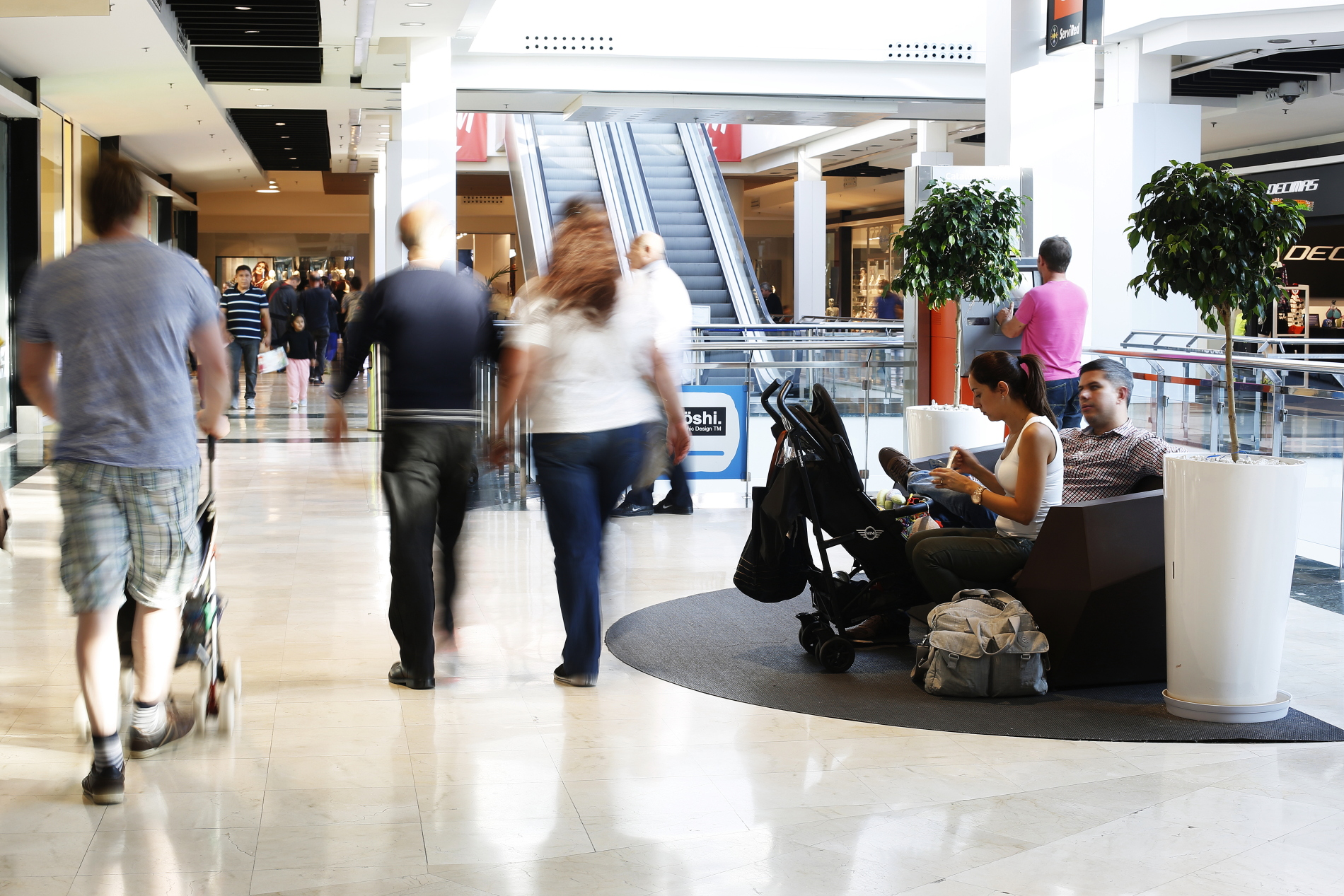 Centro Comercial Anecblau, interior