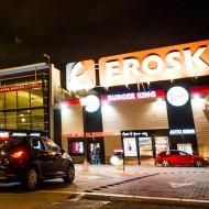 Exterior Supermercado Eroski en el CC Albacenter