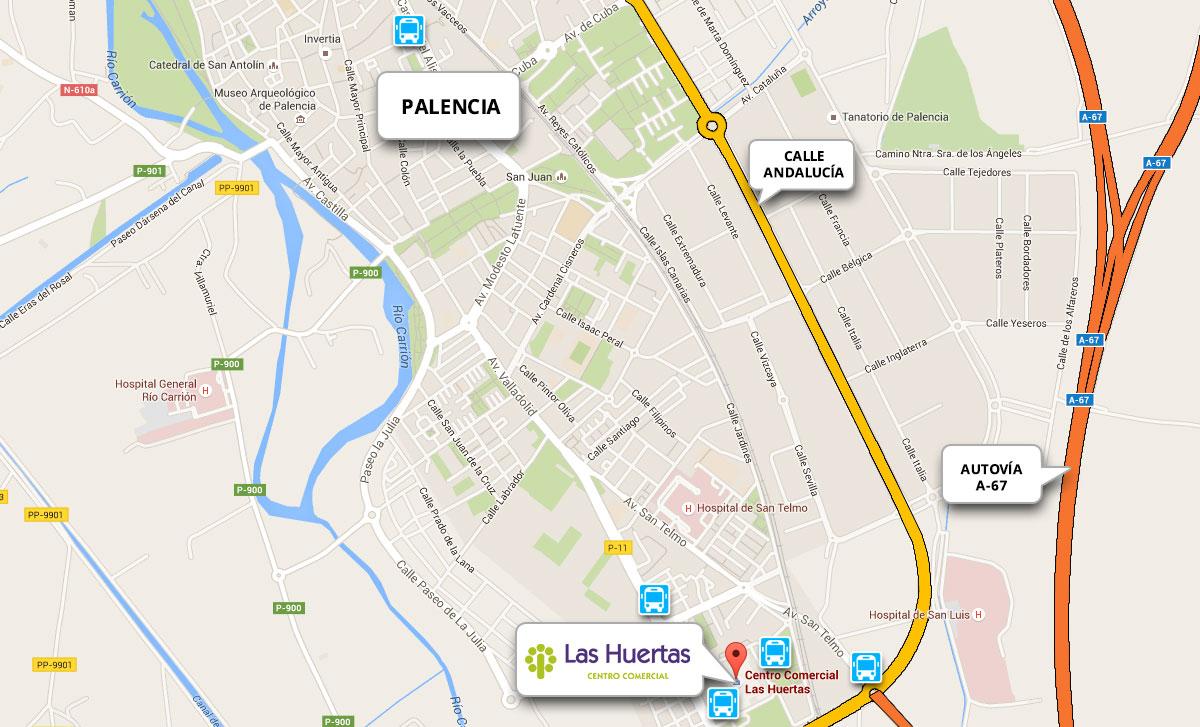 Cómo llegar Centro Comercial Las Huertas