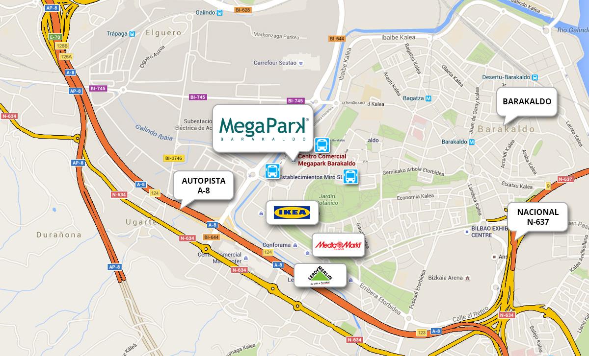 Cómo llegar Megapark Barakaldo