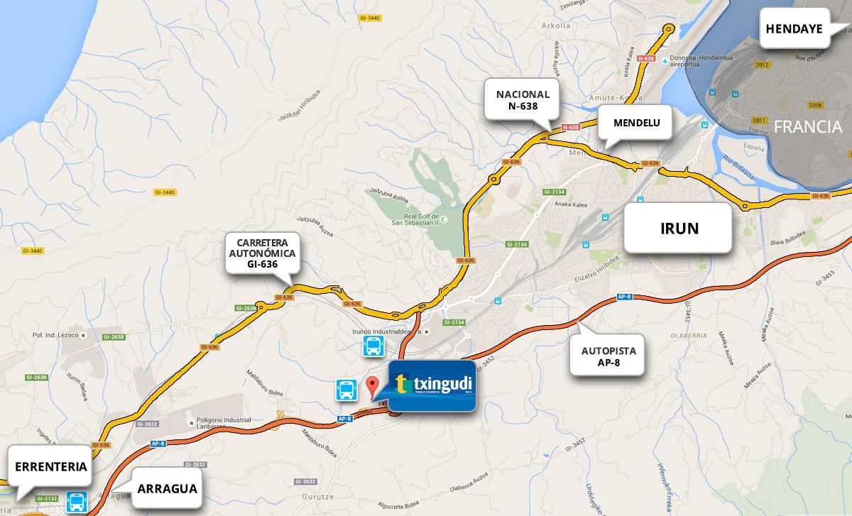 Cómo llegar Txingudi