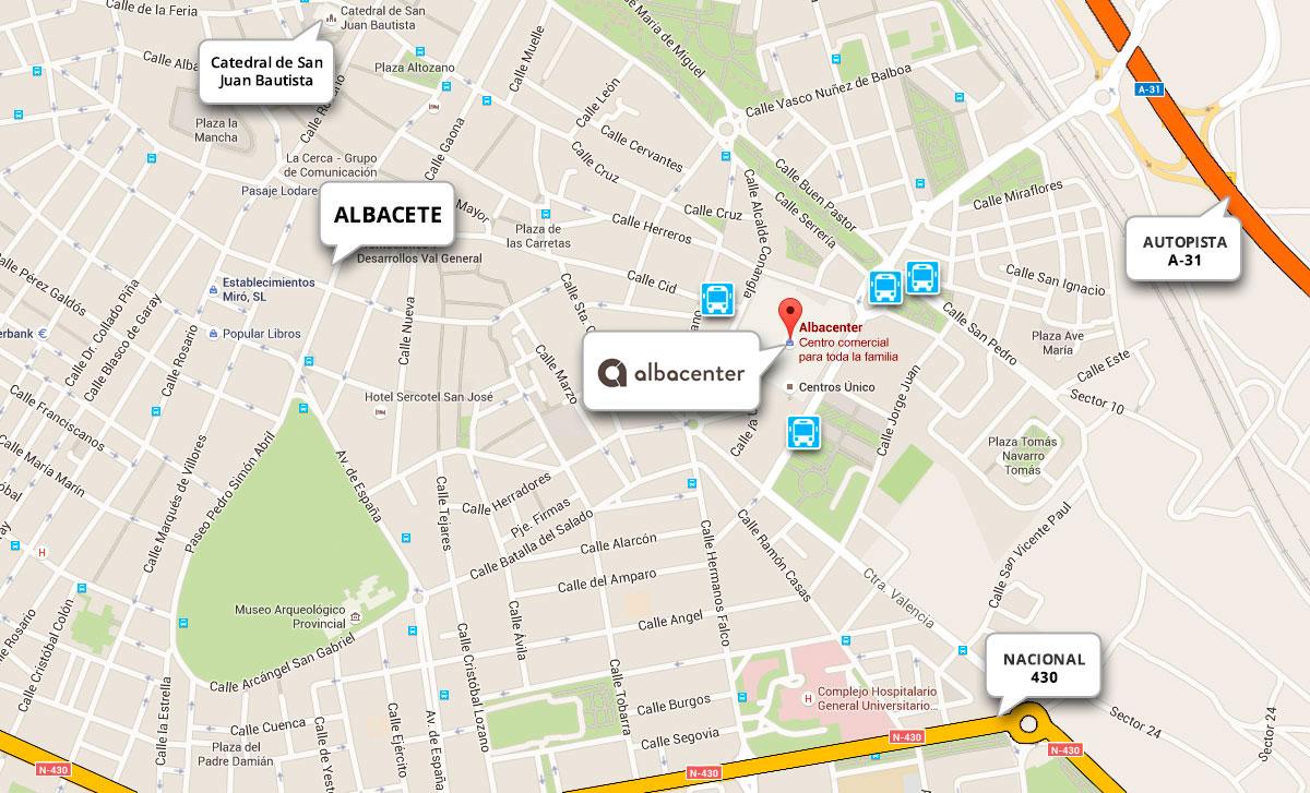 Cómo llegar Centro Comercial Albacenter