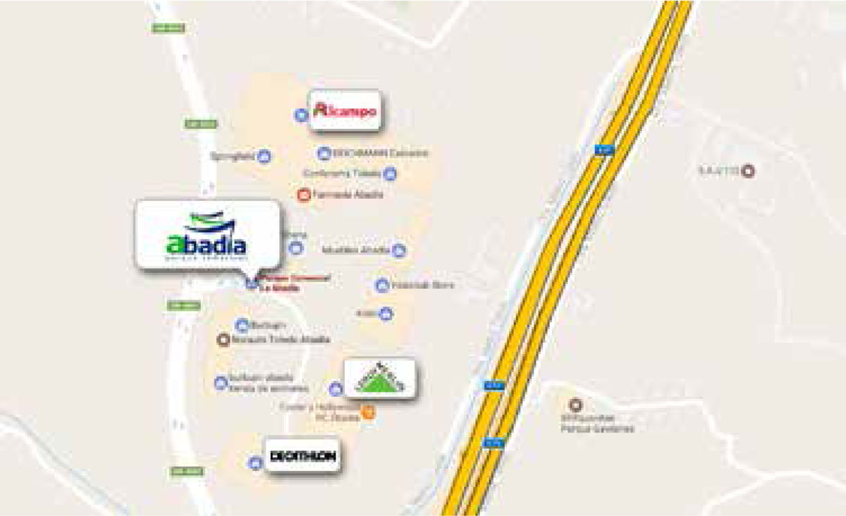 Localizacion centro comercial Abadía